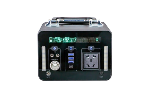 Generator Portable Power Station 220V 500Wh Emergency Backup Lithium Battery