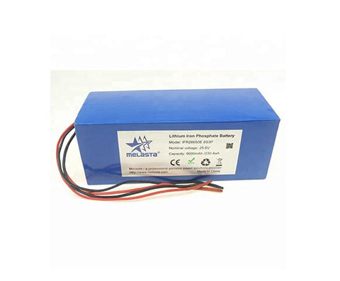 24V 9Ah 230.4Wh  LiFePO4 li-ion Battery  Pack with PCM