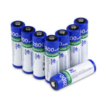 8 pack 1.2V 2800mAh Ni-MH  AA Batteries Rechargeable Battery