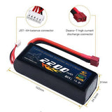14.8V 2200mAh Lipo Battey with DT Plug for Drone