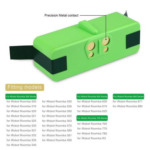 6 4Ah 14 8V Li-ion Replacement Battery for iRobot Roomba