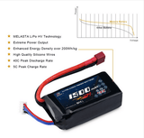 2 pack 11.1V 1500mAh Lipo Battery with DT Plug for RC Drone