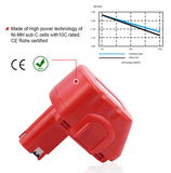12V 3000mAh NiMH Replacement Battery for Bosch