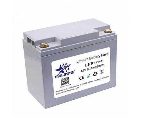 Rechargeable LiFePo4 battery pack 12V 80Ah 960Wh for UPS