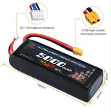 14.8V 5000mAh Lipo Battery with XT60 Plug for Drone