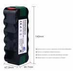 4.6Ah 14.4V NIMH Replacement Battery for iRobot Roomba