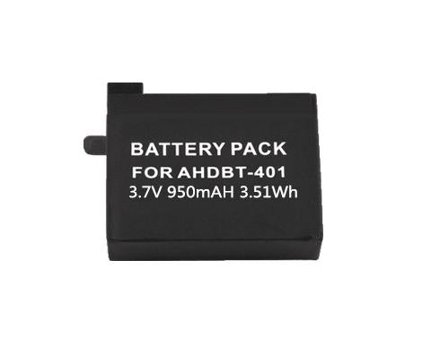 3.7V 950 mAh Li-ion Battery For GoPro Hero4 AHDBT401