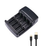 4 Slots Smart LED USB Ni-Zn LiFePO4  Battery Charger