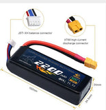 2200mAh 11.1V LiPo RC Battery with XT60 Plug for Drone