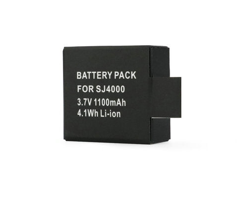 2 pack 3.7V 1100MAH Lithium-ion  Camera Battery for SJ4000