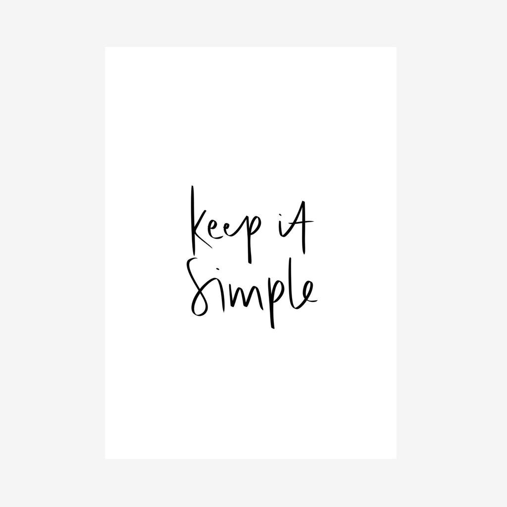 keep it simple [printable]