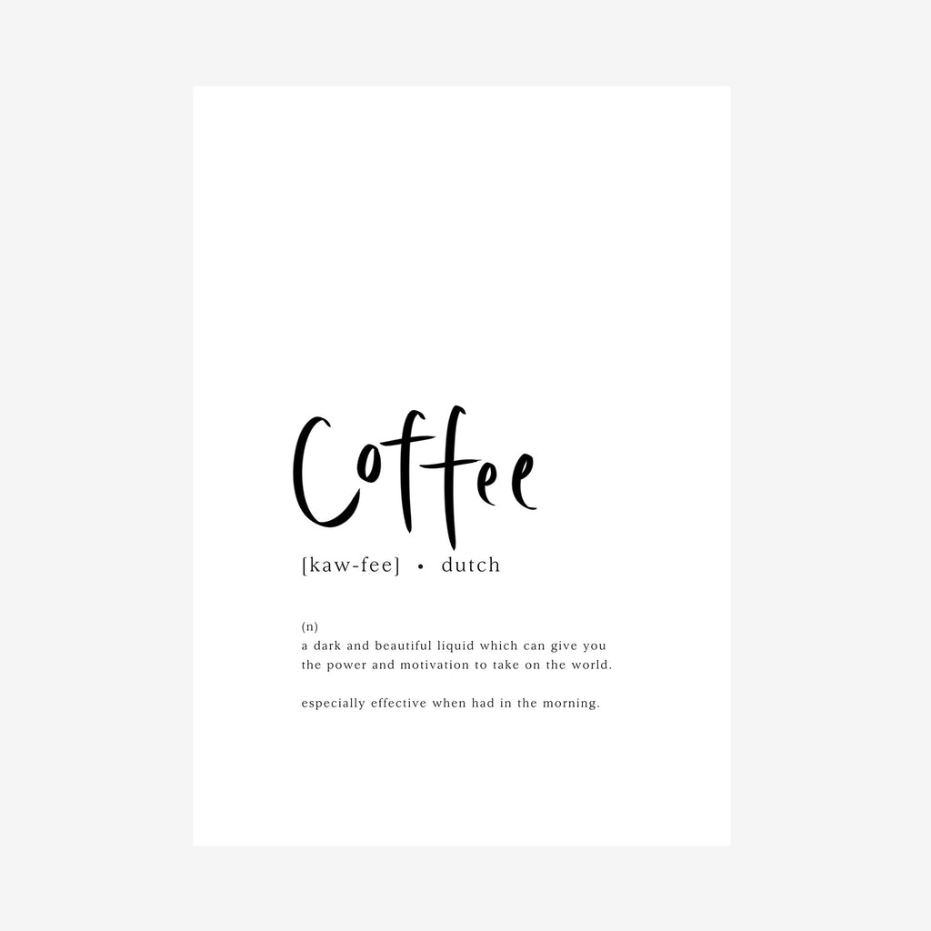 coffee [dictionary printable]