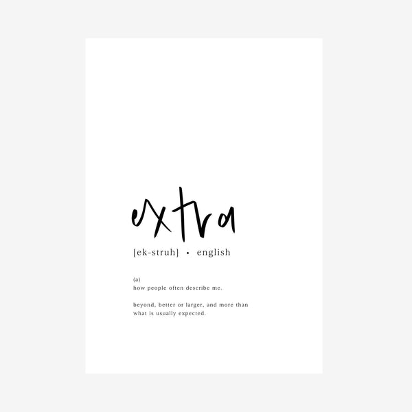 extra [dictionary printable]
