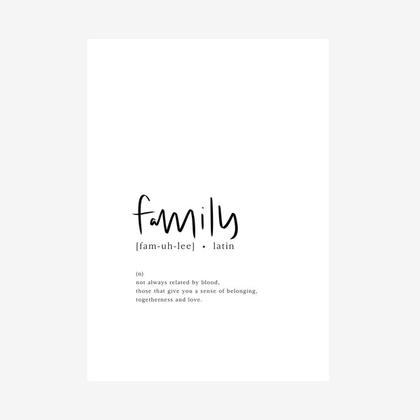 family [dictionary print]