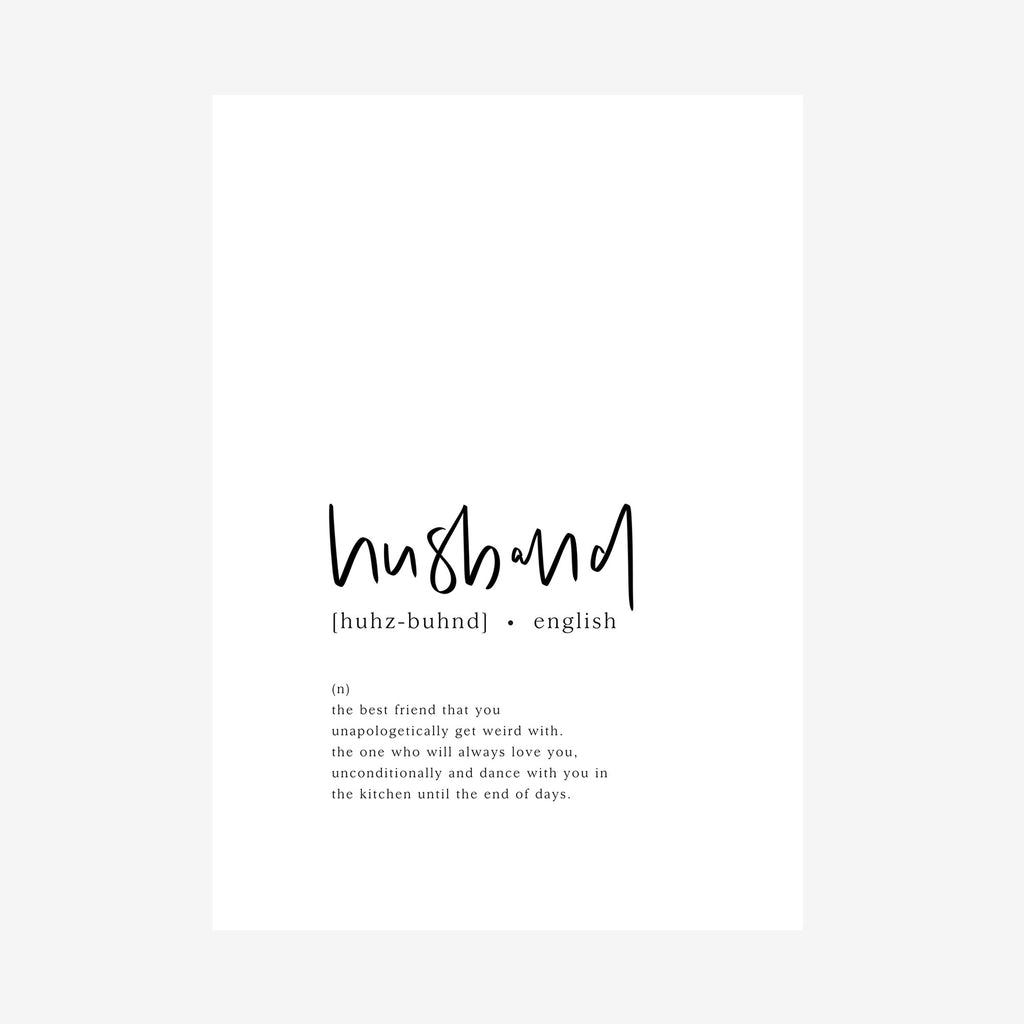 husband [dictionary printable]