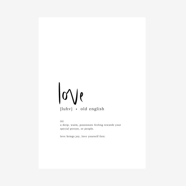 love [dictionary print]