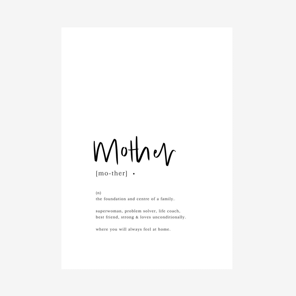 mother [dictionary printable]