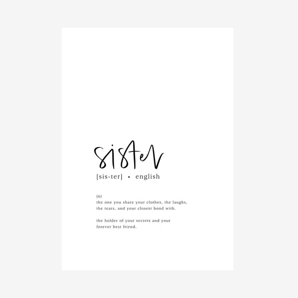 sister [dictionary printable]