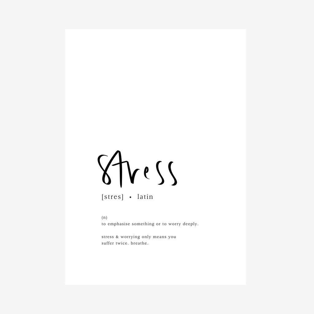 stress [dictionary print]