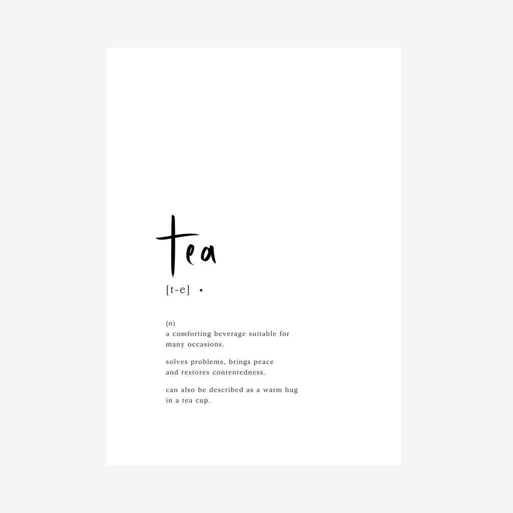 tea [dictionary printable]