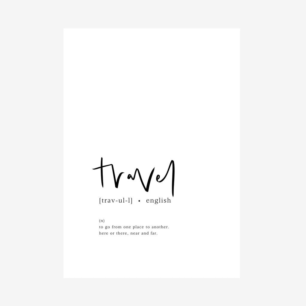 travel [dictionary print]