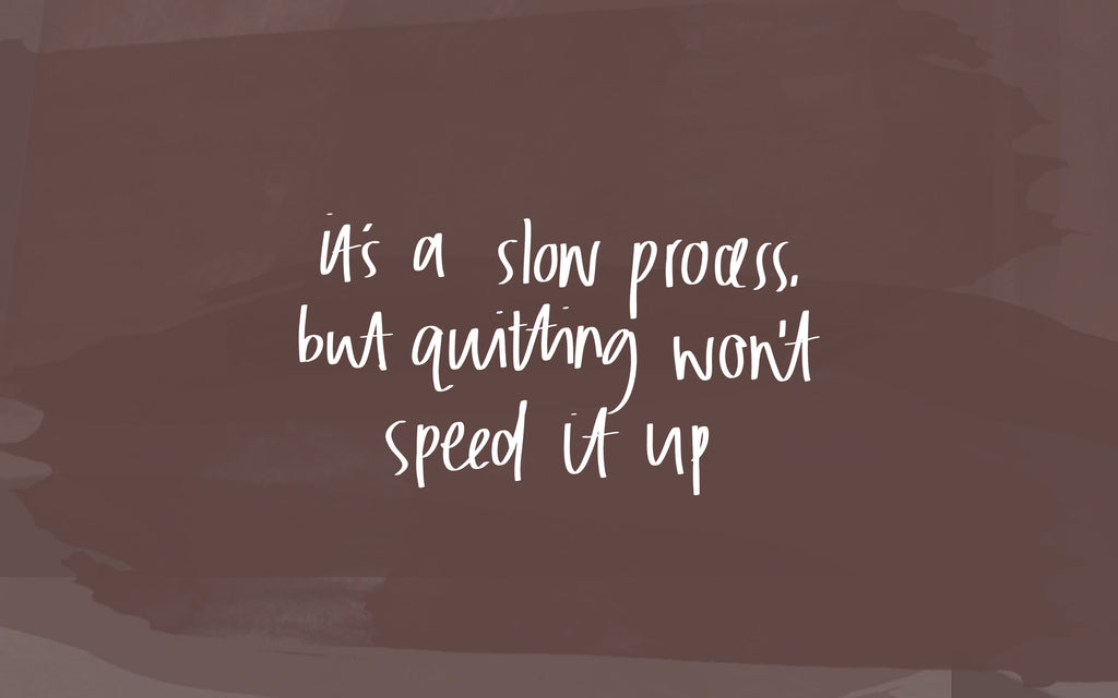 it's a slow process but quitting won't speed it up desktop wallpaper