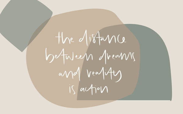 the distance between dreams & reality is action desktop wallpaper