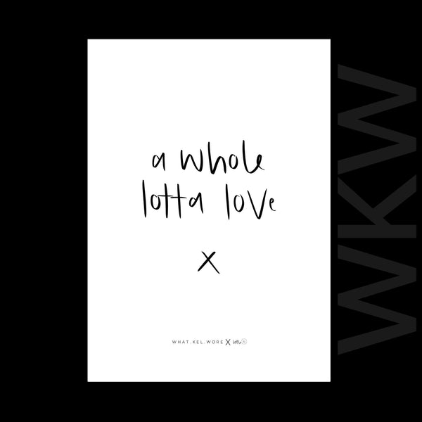 a whole lotta love print // wkw x little.kj