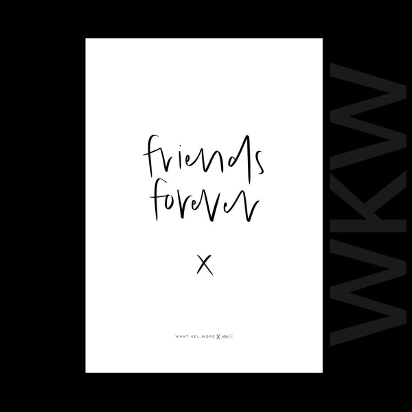 friends forever print // wkw x little.kj