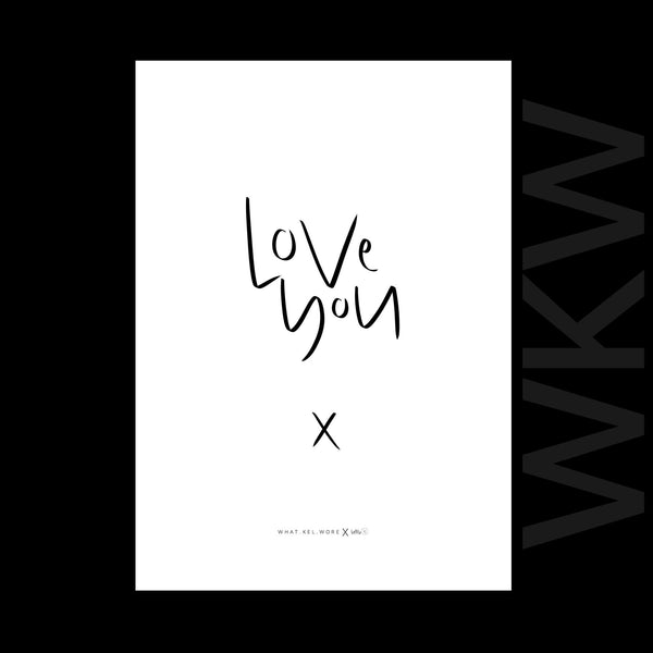 love you print // wkw x little.kj