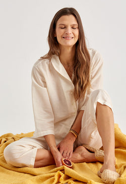 Alice Town Pajamas in Natural