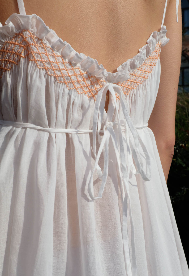 Anacapri Smocked Gown