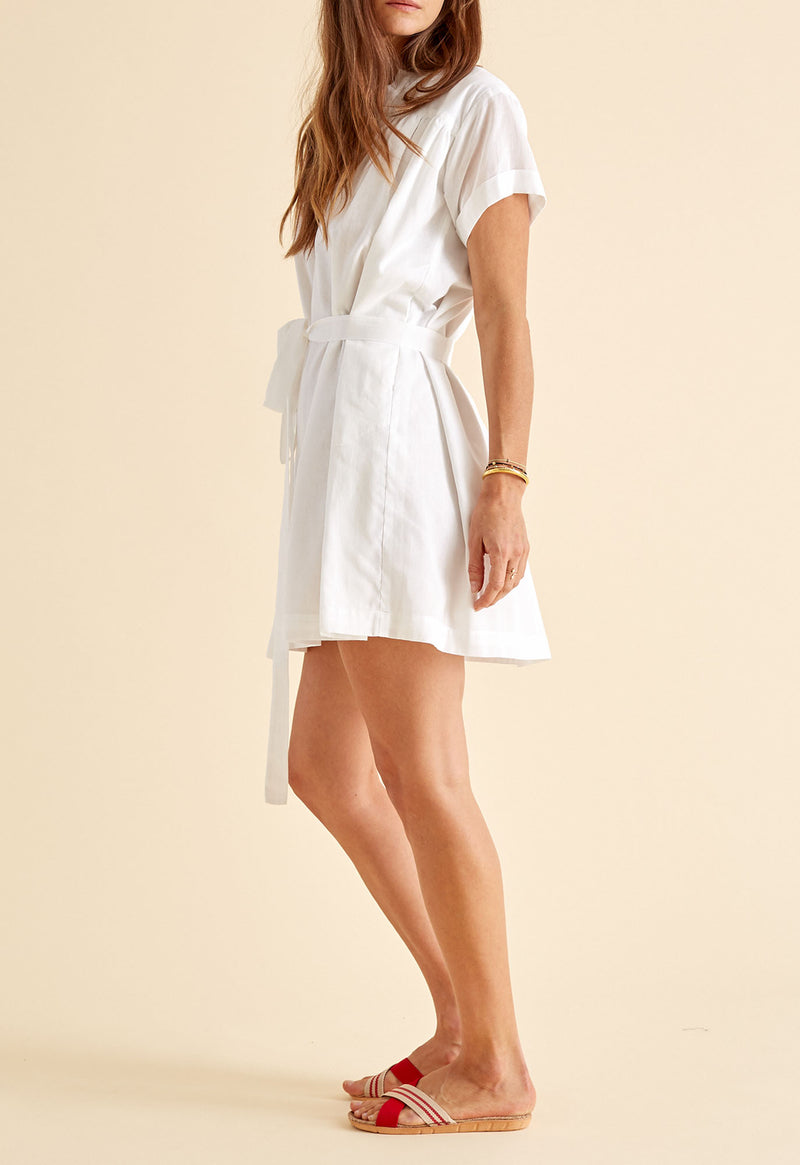 Antigua Dress in White