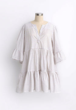 Arco Dress in Dotted Stripe