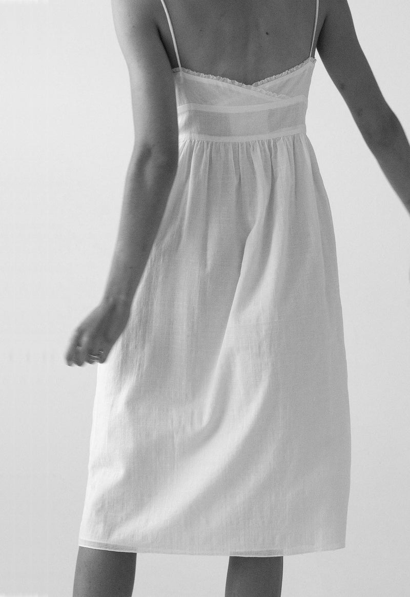 Avalon Slip Dress in Organic Cotton