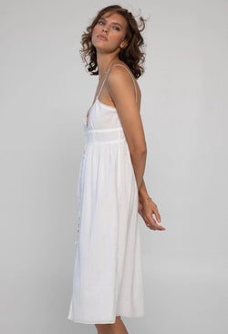 Avalon Slip Dress in Lace Jacquard