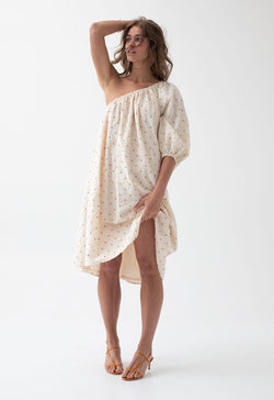 Azores Dress in Golden Dot