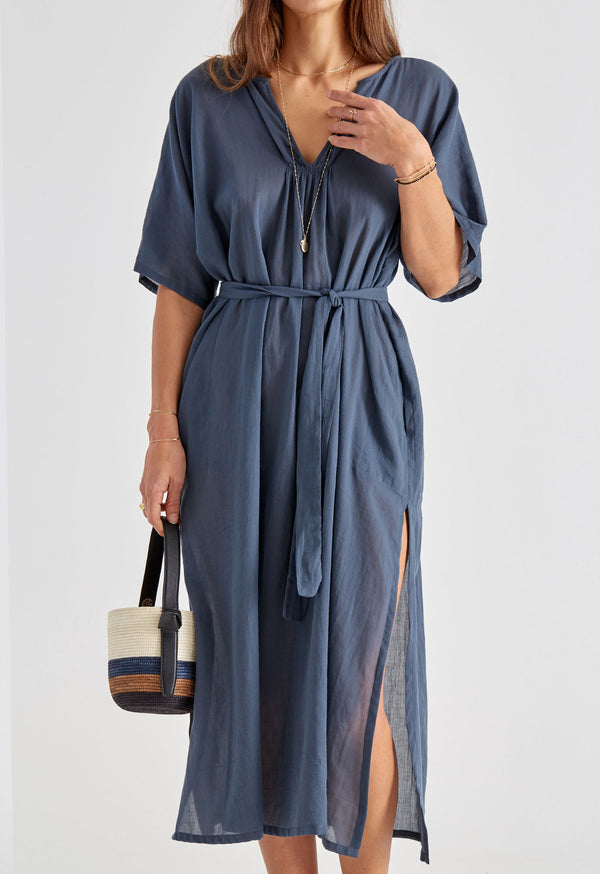 Belek Kaftan in Slate Blue