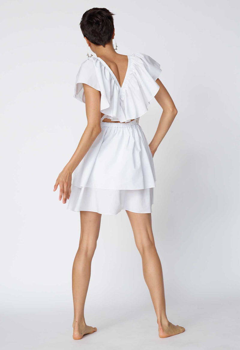 Butterfly Dress in Crisp Poplin