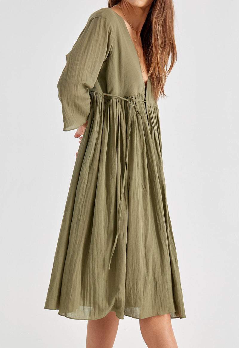Byblos Dress in Moss