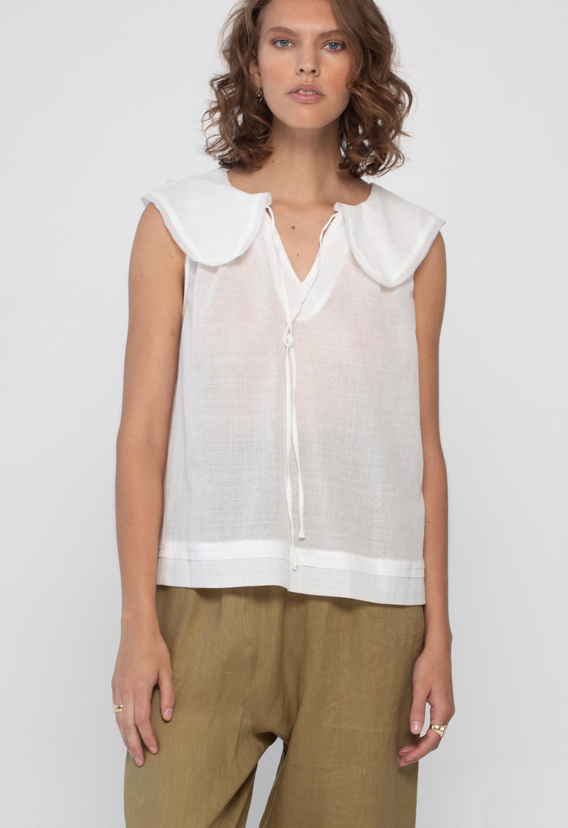 Cala Blouse in Lace Jacquard