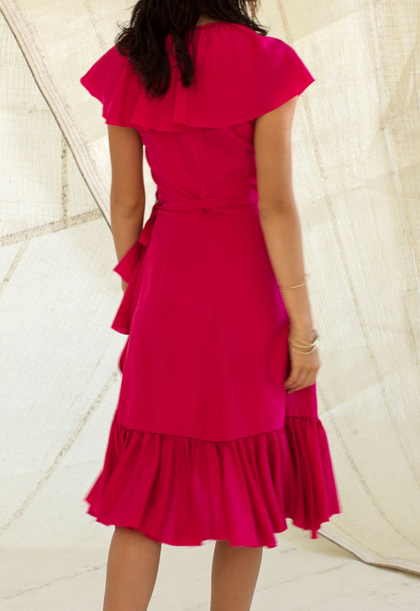 *SALE* Callela Shortie Dress in Peony Silk