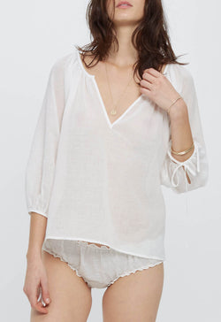 Capucine Blouse in Lace Jacquard