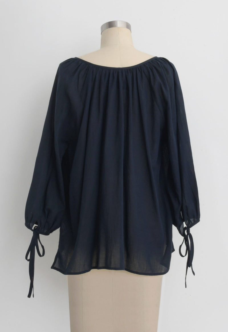 Capucine Blouse in Midnight