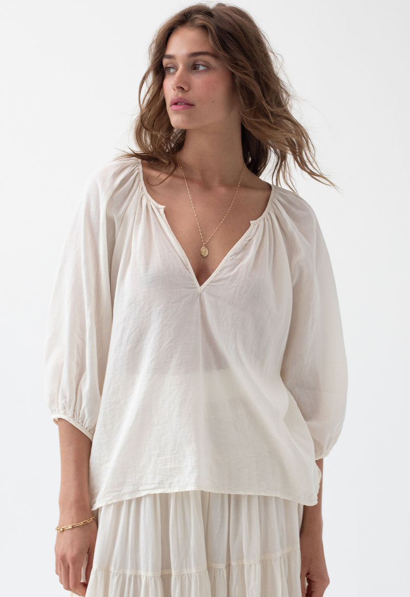 Capucine Blouse in Soft Hues