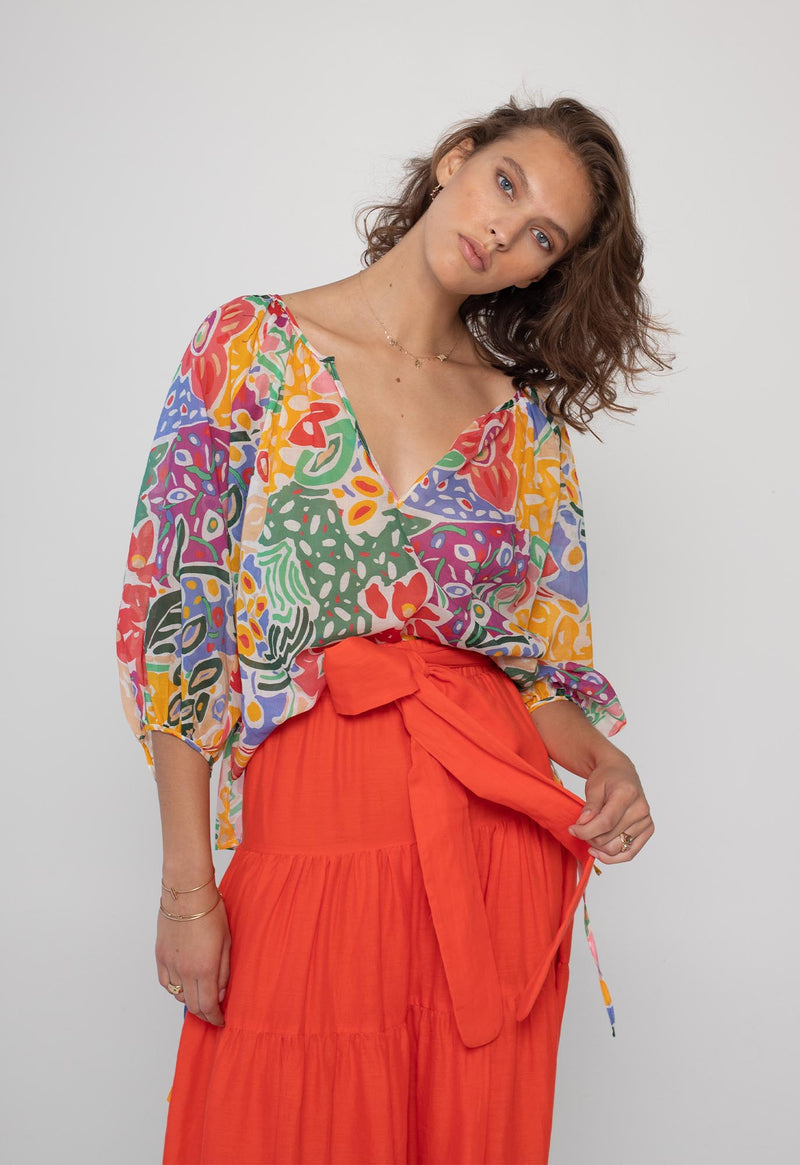 Capucine Blouse in Pop Print