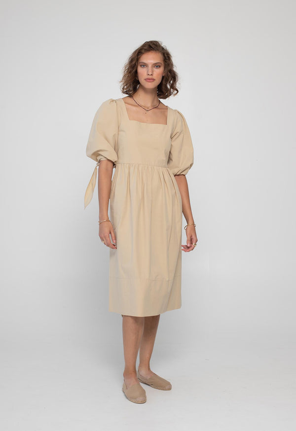 Eularia Dress in Crisp Poplin