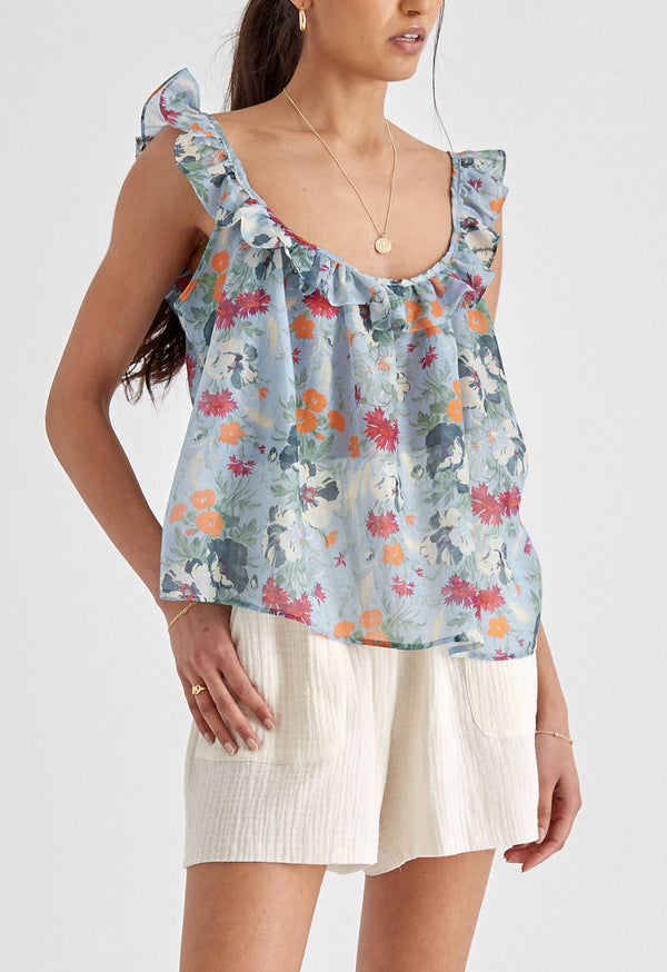 Tula Tank in Sky Tuscan Floral