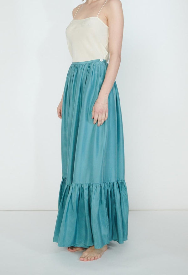 *SALE* Flores Maxi Skirt in Silk