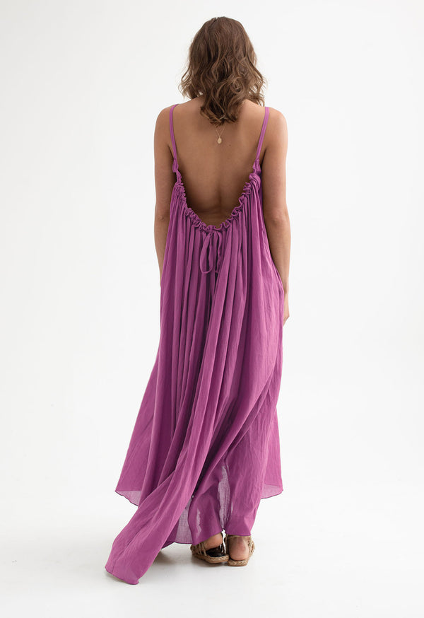 Gather Maxi Dress in Organic Cotton